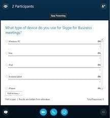 رای گیری در Skype for Business